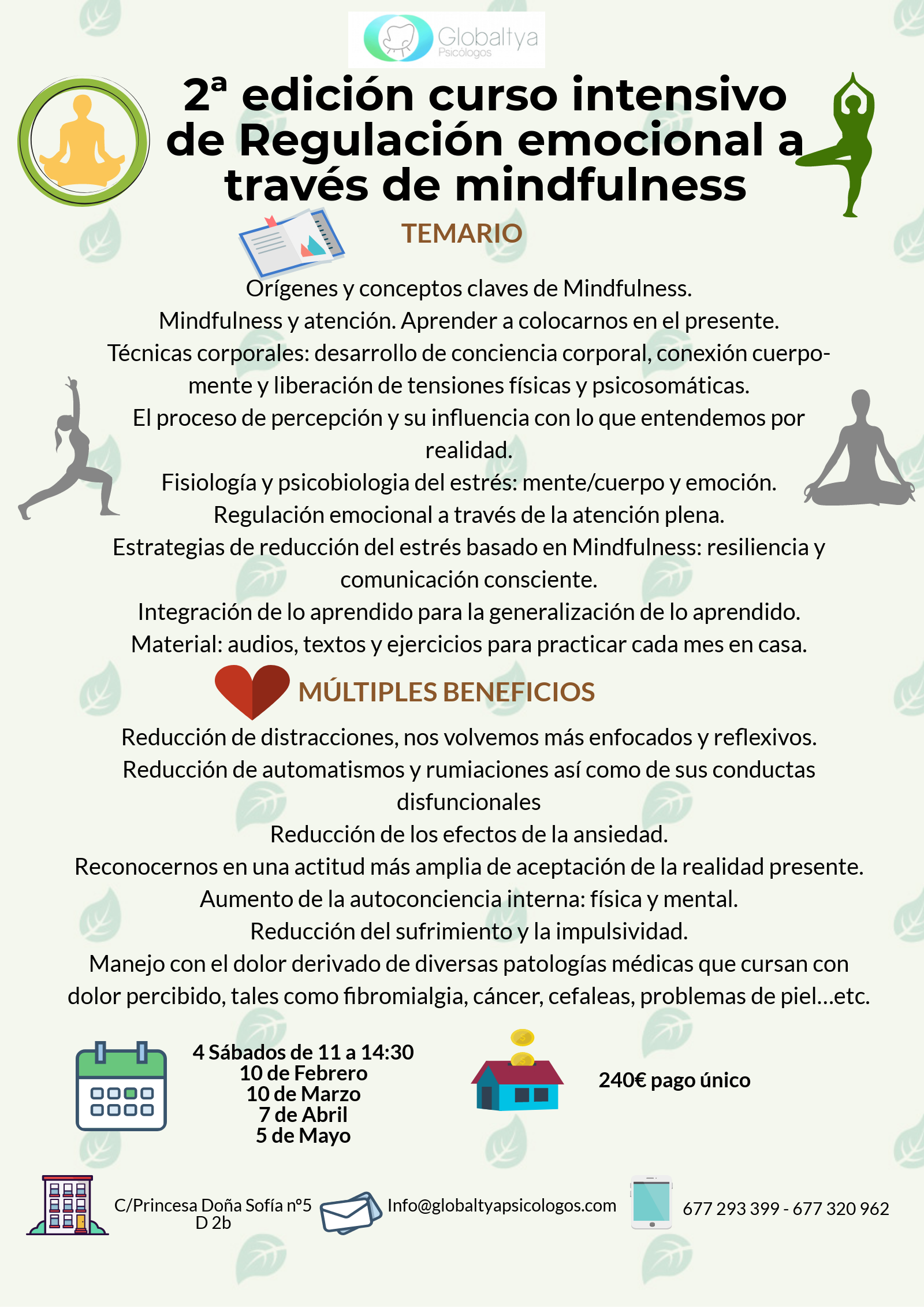 Curso mindfulness alcorcon globaltya psicologos